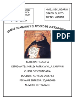 Tomas de Aquino y El Apogeo de La Escolastica