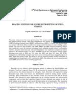 Bracing Systems for Seismic Retrofitting of Steel Frames