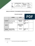 Manual de Procesos y Procedimientos Servicio Farmaceutico