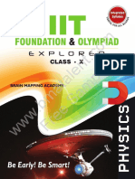 IIT Foundation Olympiad Explorer Class 10 Physics