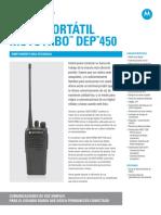 Radio DEP450 - Especificaciones.pdf