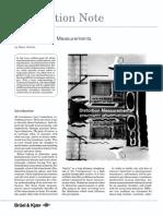 Audio Distortion Measurements