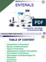 Jyoti.novel Drug Delivery Pareterals