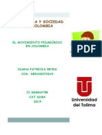 Folleto Movimiento Pedagogico en Colombia