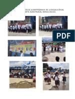 Celebración Del Día de La Independencia en La Escuela Oficial Rural Mixta