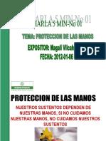 CHARLA 5 MIN  PROTECCION DE MANOS( ENERO-1-2012).ppt