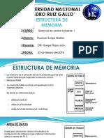 estructura de memoria