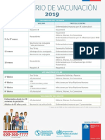 Calendario de Vacunas Chile 2019