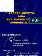 2 PROCEDIMIENTOS EVALUATIVOS