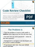 EKON 23 Code Review Checklist