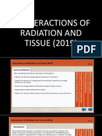 2. Interactions of Radiation and Tissue (2019).pptx