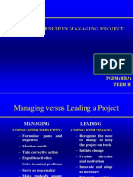 Session 15 Role of Leadership in Managing Projects