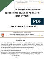 PRESENTACION DEL METODO DE INTERES EFECTIVO Y APLICACIONES SEGUN LA NIIF para PYMES