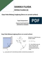 Statika Fluida (3) - Gaya Pd Bd Lengkung