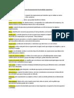 diccionario programacion actividades coorporativas