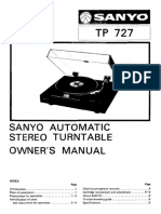 Sanyo TP 727 Owners Manual