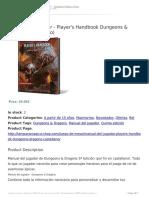 Manual Del Jugador Player's Handbook Dungeons & Dragons (Castellano)