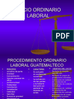 Juicio Ordinario Laboral