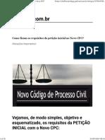 Requisitos Da Petição Inicial NCPC