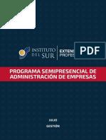 Programa Semipresencial de Administración de Empresas