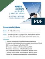 Congreso de Medicina 2019   Programa