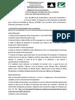 Edital pós UNESP Bauro