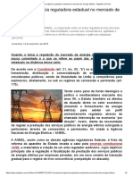 O Papel Da Agência Reguladora Estadual No Mercado de Energia Elétrica