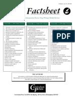 Biofact Sheet List