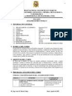 0. Syllabus Analisis Estructural I - 2019 II