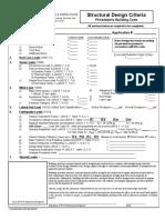 Structural Design Criteria Form 2009
