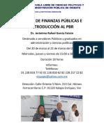 Curso de Finanzas Públicas e Introducción Al Pbr