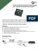 Manual GCA01HD Video Amplifier