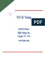 High Volatege VLF AC Testing Comparative