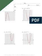 test review quadratics answers
