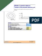 PRESSION_v1 Cylindre  à parois minces