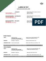 Llibres Text 2019-2020