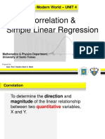 4.4 Correlation and Simple Linear Regression