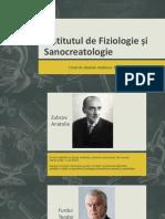 Institutul de Fiziologie Și Sanocreatologie