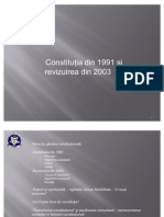Constitutia Din 1991 Si Revizuirea Din 2003