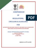 Compendium of AADHAAR Regualations in India
