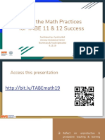 Using the Math Teaching Practices for TABE 11 & 12 Success