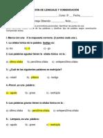 Evaluación de Lenguaje y Comunicación Septiembre Corrección.