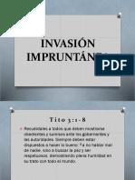 INVASIÓN IMPRUNTÁNEA