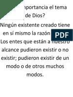 Tiene Importancia El Tema de Dios