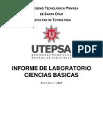 Formato de Informe Laboratorios de Ciencias Básicas