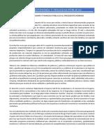 EL FORO DE ECONOMÍA Y FINANZAS PÚBLICAS AL PRESIDENTE MORENO