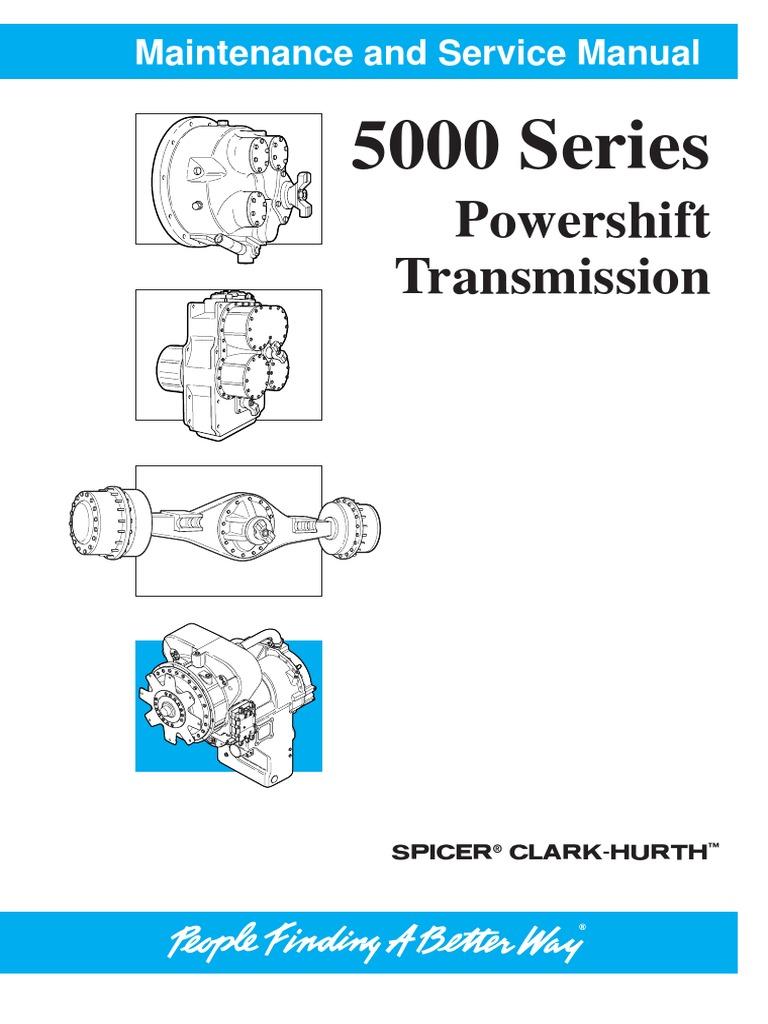Details about  /CLARK MICHIGAN 5000 SERIES TRANSMISSION SERVICE SHOP MANUAL 2260
