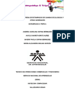 PROYECTO DE EMPRESA DE ESTAMPADOS DE CAMISAS ECOLOGICAS Y OTRAS VARIEDADES ESTAMPADOS S TRIPE A