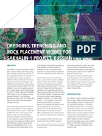 Article Dredging Trenching and Rock Placement Works for the Sakhalin 1 Project Russian Far East Terra Et Aqua 105 1