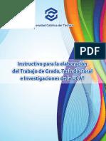 UCAT Instructivo TG y TD 2013